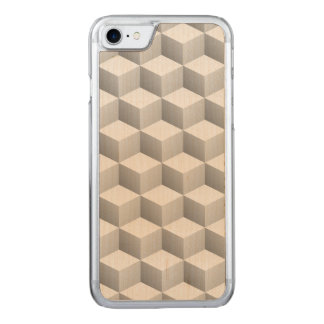 Lt Grey White Shaded 3D Look Cubes Carved iPhone 8/7 Case