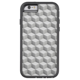 Lt Grey White Shaded 3D Look Cubes Tough Xtreme iPhone 6 Case