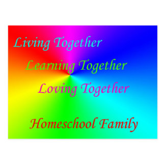 LT Homeschool Family Postcard