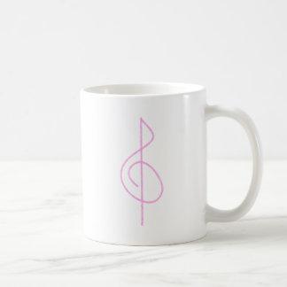 Lt. Pink Brushstroke Treble Clef Mug