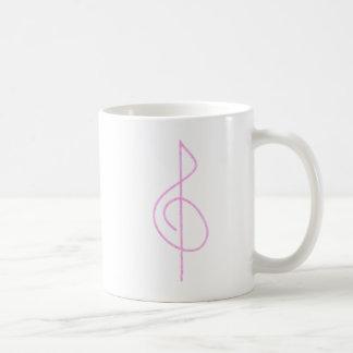 Lt. Pink Brushstroke Treble Clef Mugs