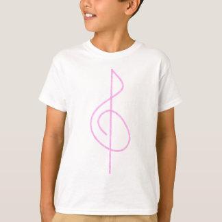 Lt. Pink Brushstroke Treble Clef T-Shirt