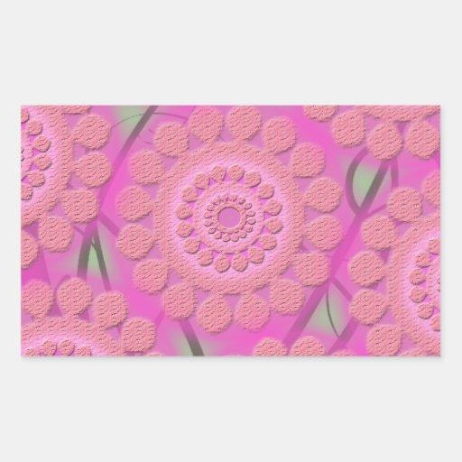 lt púrpura rectangular pegatina