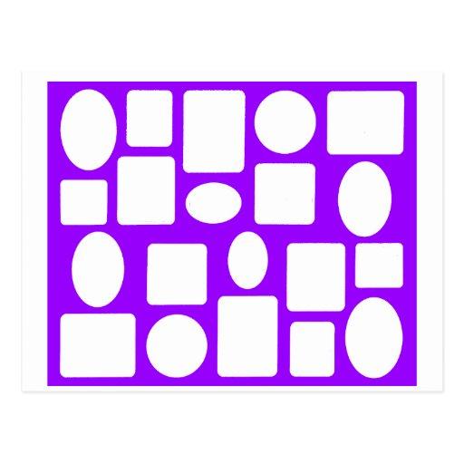 Lt púrpura The MUSEUM Zazzl del paisaje del marco Tarjeta Postal
