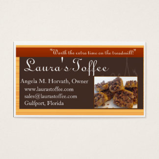 ltbcards3, Laura's Toffee, www.laurastoffee.com... Business Card