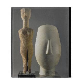 (Lto R) Figurine with crossed arms, Cycladic; head iPad Folio Case