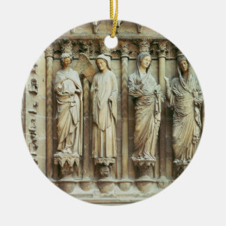 (LtoR) The Annunciation and the Visitation, right- Ceramic Ornament
