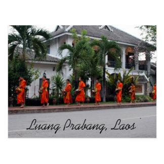luang alms postcard
