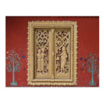 luang red gold window post cards