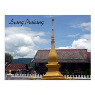 luang stupa postcard