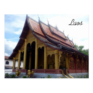 luang temple postcard