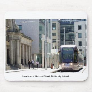 Luas Tram, Harcourt St., Dublin city Ireland Mouse Pad