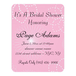 Luau Aloha Hawaiian Blossoms Bridal Shower Announcement