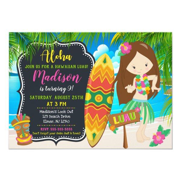 Custom Luau Birthday Invitation Aloha Invites