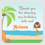 luau, birthday, party, stickers, favors,