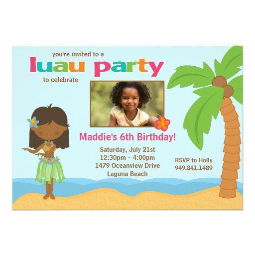 Birthday Luau Invitations with amazing invitation ideas