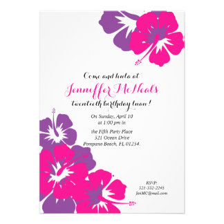Luau BIRTHDAY PARTY Invitation 1 Card