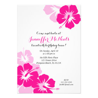 Luau BIRTHDAY PARTY Invitation 2 Card