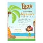 "Luau Birthday Party Invitation Card 5"" X 7"" Invitation Card"
