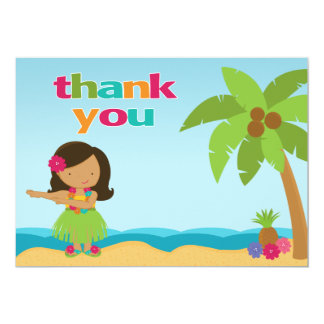 Luau Birthday Party Thank You Card Announcements