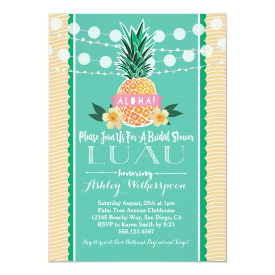 Luau bridal shower invitation zazzle luau bridal shower invitation filmwisefo