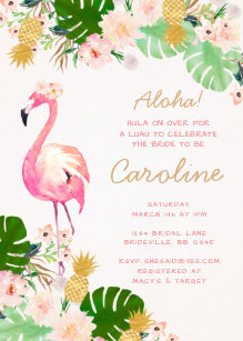 Luau bridal shower invitations zazzle luau bridal shower invitation filmwisefo