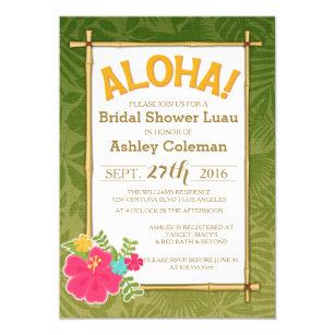 Luau bridal shower invitations zazzle luau bridal shower invitation filmwisefo