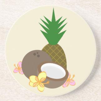 Luau Coasters - Pineapple Hibiscus Coconut