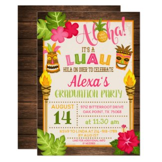 Luau Graduation Party Invitation