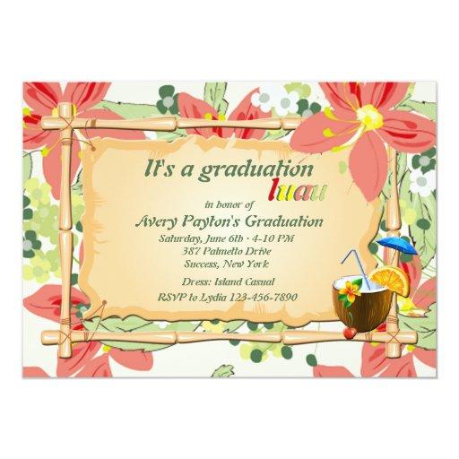 Luau Graduation Party Invitation | Zazzle