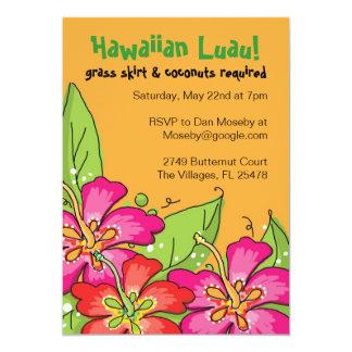 """¡Luau hawaiano! Invitaciones Invitación 5"""" X 7"""""""