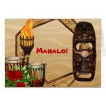 Luau hawaiano le agradece las tarjetas
