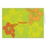 Luau hawaiano le agradece las tarjetas de nota