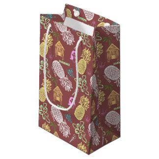 Luau hawaiano modelado bolsa de regalo pequeña