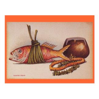 Luau hawaiano retro postal