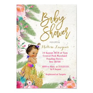 Luau Hawaiian Baby Shower Invitation