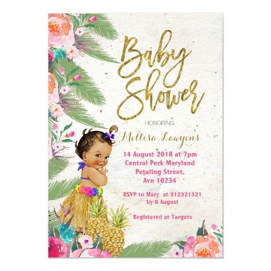 Luau hawaiian baby shower invitation zazzle luau hawaiian baby shower invitation filmwisefo