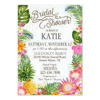 Luau Hawaiian Beach Rustic Bridal Shower Card