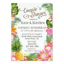 Luau Hawaiian Beach Rustic Couples Shower Invitation