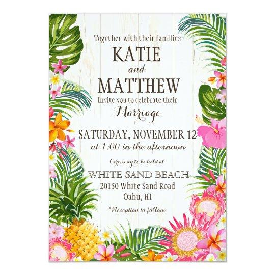 Wedding Invitations Hawaii: Hawaiian Wedding Invitations