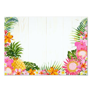 Luau Hawaiian Wedding Beach Rustic Beach RSVP Card