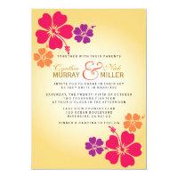 Luau / Hawaiian Wedding Invitation