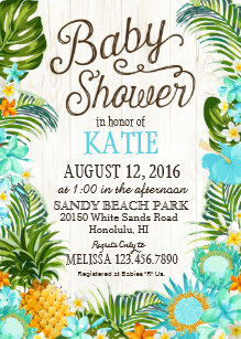 Save 60 on luau baby shower invitations limited time only zazzle luau hawiian beach rustic baby shower invitation filmwisefo