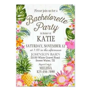 NouDesigns Luau Hawiian Beach Rustic Bachelorette Party Card
