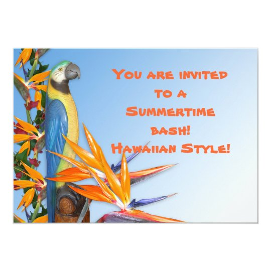 Luau Invitation for summertime party