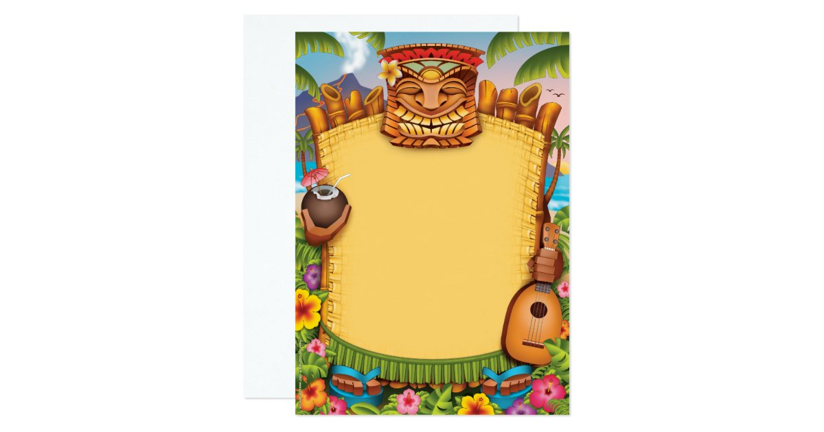 Hawaiian Invitations Announcements – Hawaiian Theme Party Invitations