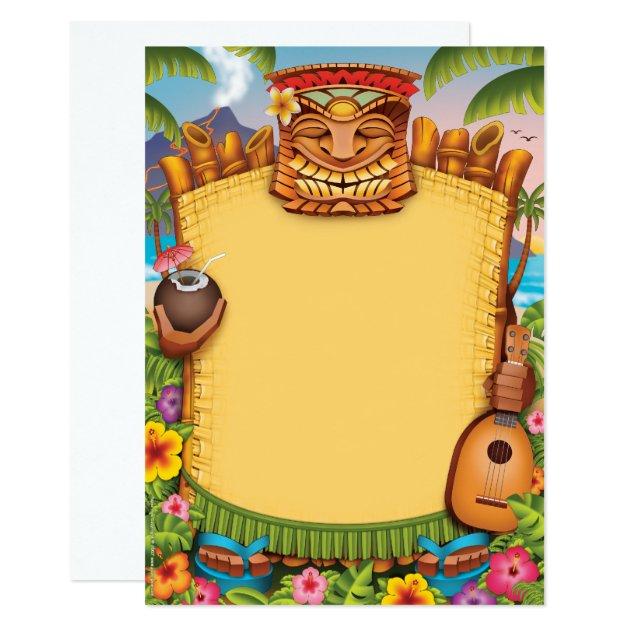 luau invitations  hawaiian party invitations