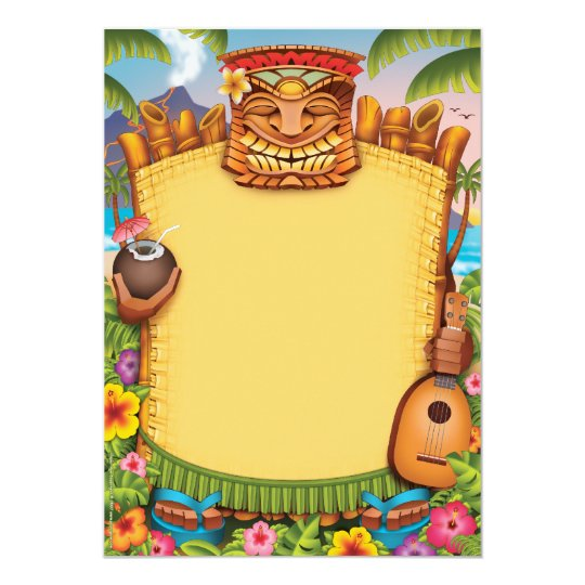 tiki party invitations & announcements | zazzle, Birthday invitations