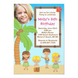 Luau Kids Birthday Party Invitation