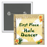 Luau Party First Place Hula Dancer Award Button